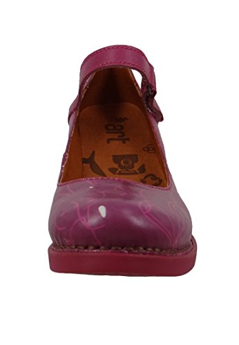 Damen Leder Neko ART Pink Riemchenpumps Pumps 0933F Harlem Hqww8T