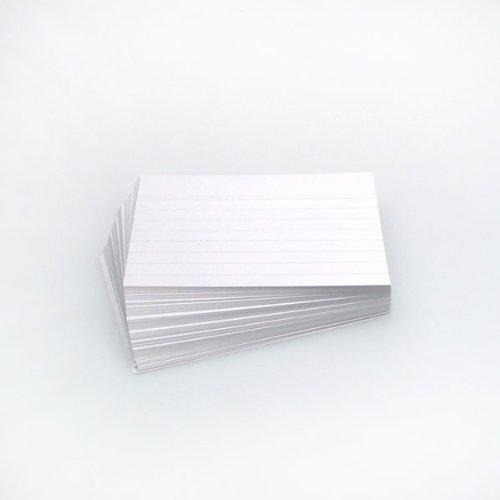 Office Line Tarjetas, 500unidades, color blanco, 190g, DIN A6, a rayas, número de referencia: 770287 Hanauerland Werkstätten 990287