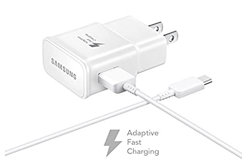 Verizon Samsung Galaxy S8 Adaptive Fast Charger Type C Cable Kit! [1 Wall Charger + 4 FT Type C USB Cable] Adaptive Fast Charging uses dual voltages for up to 50% faster charging! - Bulk (Samsung Phone Charger Verizon)
