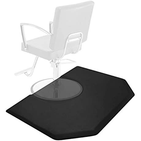 Saloniture 5 Ft X 4 Ft Salon Barber Shop Chair Anti Fatigue Mat Black Hexagon 1 In Thick