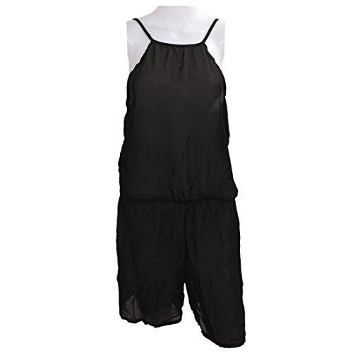 Jumpsuit - SODIAL(R)sexy dos nu elingue mousseline de soie Jumpsuit pour femme Noir M