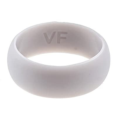 Silicone Wedding Ring for Men Wedding Band with Active Lifestyle - The Perfect Rubber Wedding Ring for Working Men - Mechanics, Police, Electricians, Firemen, Athletes, Hikers