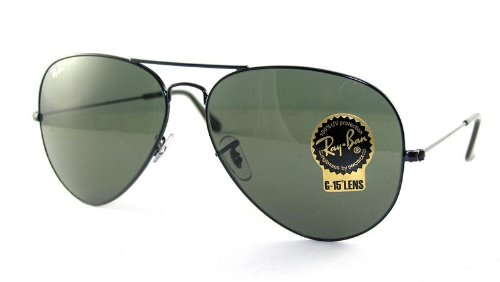 Ray-Ban Sunglasses - RB3026 Aviator Large Metal II / Frame: Black (62mm) Lens: - Ray Ban Prices And Sunglasses