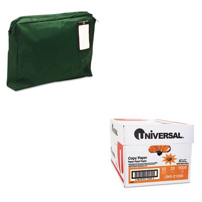 KITMMF2342814L02UNV21200 - Value Kit - MMF Expandable Dark Green Transit Sack (MMF2342814L02) and Universal Copy Paper (UNV21200)