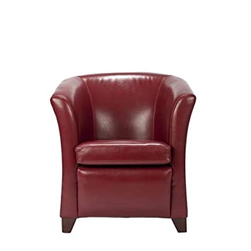 Safavieh Hudson Collection Clara Leather Club Chair Red