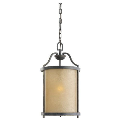 Sea Gull Lighting 51520-845 Pendant with Creme ParchmentGlass Shades, Flemish Bronze Finish -