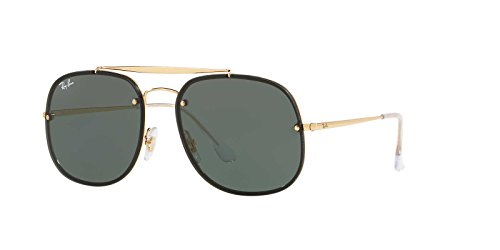 Ray-Ban Steel Unisex Square Sunglasses, Gold, 58 - Ban Ray Glasses 2017 Mens
