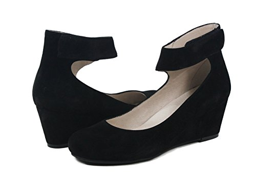 Sacha London Vespa Black Suede Wedges, used for sale  Delivered anywhere in USA