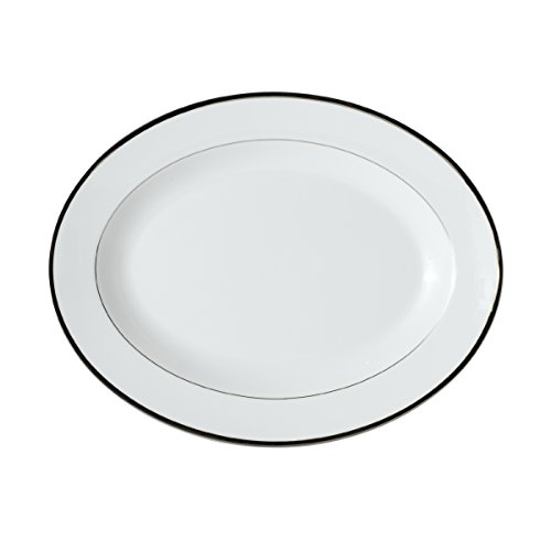 Mikasa Cameo Platinum Oval Serving Platter, -