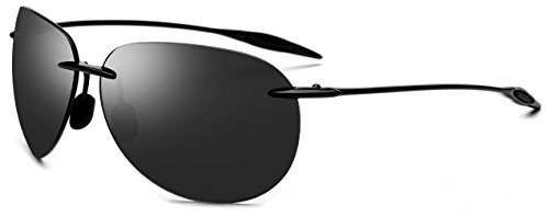 FONEX TR90 Aviation Sunglasses for Men Women with Mirror Pilot Nylon Lens 1606 (Gray - Glasses Aviation