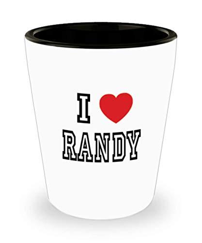 White Ceramic Shot Glass I Love Randy Mug Lover Gift Coffee Funny Idea Tea Cup Cute Ceramic Present Gag,al3061]()