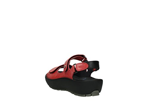 Wolky Womens 3325 Rio Leather Sandals 366 cyclame leather