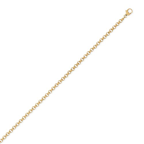 DIAMANTLY Collier or 750 jaseron or 750 creux 3,4 mm - 45 cm