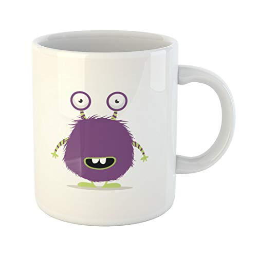 Semtomn Funny Coffee Mug Purple Toy Cute Monster Green Kids Cartoon Scary Silly 11 Oz Ceramic Coffee Mugs Tea Cup Best Gift Or Souvenir]()