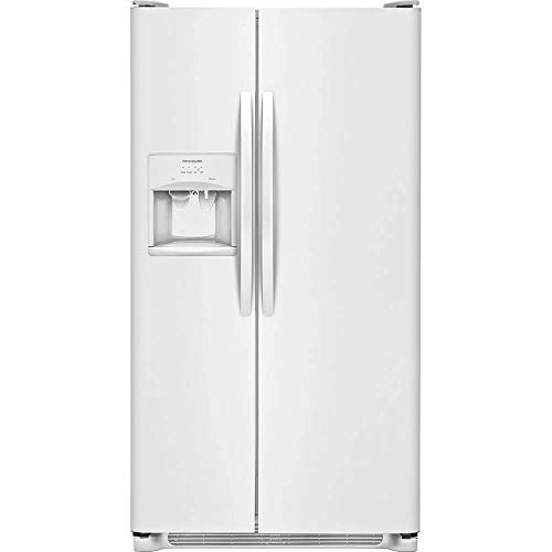 Frigidaire FFSS2315TP 33 Inch Freestanding Side by Side Refrigerator with 22.1 cu. ft. Capacity, in Pearl ()