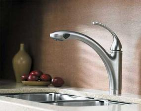 Durable and elegant, Forté kitchen faucets come with a lifetime warranty (shown in Vibrant Stainless