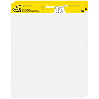 Post-it Super Sticky Easel Pad, 25 x 30 Inches, 30 Sheets/Pad, 2 Pads (559), Large White Premium Self Stick Flip Chart Paper, Super Sticking Power