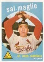 1959 Topps #309 Sal Maglie - FAIR