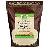 Now Foods Turbinado Sugar Organic, 2.5 lb (Pack of 4)