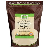 Now Foods Turbinado Sugar Organic, 2.5 lb (Pack of 4) by Now Foods
