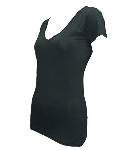 Cambiar el estilo corsé de U cuello en V T-shirt de la mujer