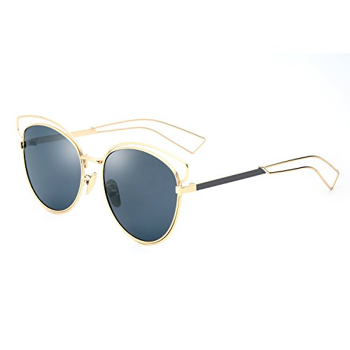 Joopin Brand Designer Cat Eye Sunglasses Women UV400 Fashion Vintage Sunglasses (Gold Frame Black - Brand Sunglasses Cheap