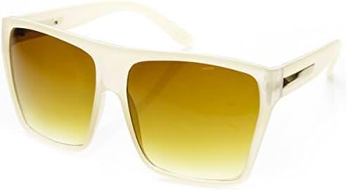 zeroUV - Large Oversized Retro Fashion Square Flat Top Sunglasses