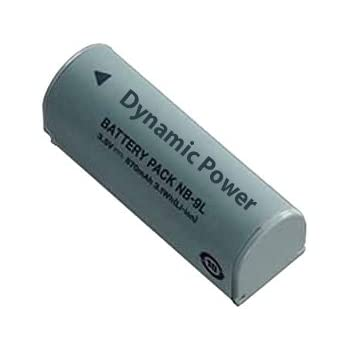 NB-9L Rechargeable Lithium-Ion Replacement Battery Pack (3.7v, 1200 mAh) Replaces Canon NB-9L Battery