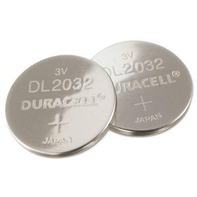 Duracell DL2032B2PK Lithium Medical Battery, 3V, 2/Pk