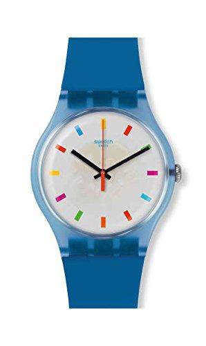 Swatch Reloj Analogico para Hombre de Cuarzo con Correa en Silicona SUON125: Amazon.es: Relojes
