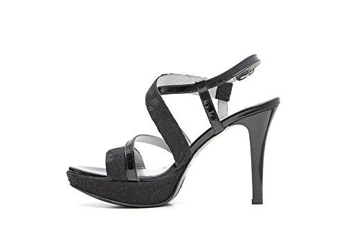 Nero Giardini sandalias del tacón alto de las mujeres Cuero Artículo P615780DE 100 Negro P6 DE 15780