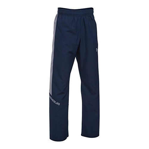 Under Armour Boys' Main Enforcer Woven Pants, Midnight Navy/Steel, Youth Small