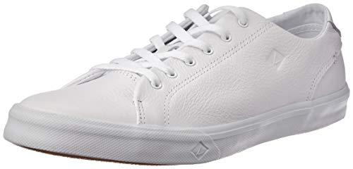 SPERRY Men's Striper II LTT Leather Sneaker, White, ()