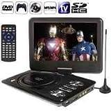 DVD PLAYER PORTATIL GRANDE COM TELA HD DE 11,5 COM TV, USB, CONTROLE REMOTO, ANTENA E CARREGADOR COM SUPORTE DE ENCOSTO DE CABECA PARA CARRO