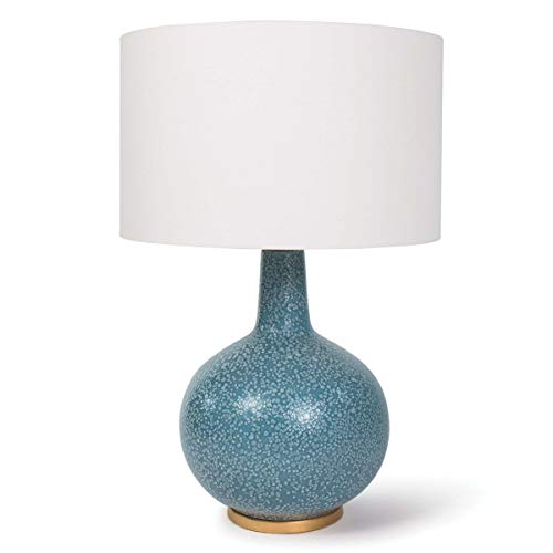 - Regina Andrew Moon Ii 3-Way 150 Watt Max Blue and Ceramic 1 Socket - Decorative Table Lamp