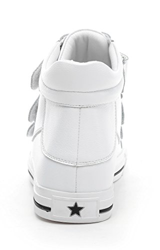 D2C Beauty Womens Fashion Velcro Strap High Top Casual Sport Sneakers White dJwDNzD