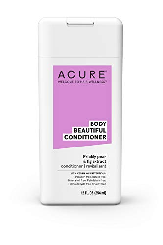 ACURE Body Beautiful Conditioner - Prickly Pear & Fig Extract | 100% Vegan | Performance Driven Hair Care | Boosts Volume & Bounce | Prevents Breakages & Replenishes Moisture | 12 Fl Oz