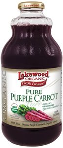 Lakewood Organic Pure Purple Carrot Juice 32 ounce Bottles (Pack of 12) by Lakewood