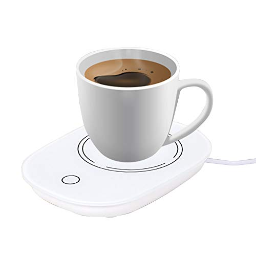 RoofWorld Coffee Mug Warmer, Smart Beverage Warmer with Touch Screen Switch, 55℃ Electric Thermostat Automatic Cup…