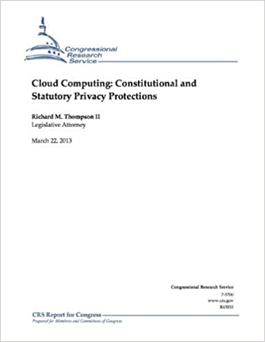 Gratis online bog pdf download Cloud Computing: Constitutional and Statutory Privacy Protections ePub