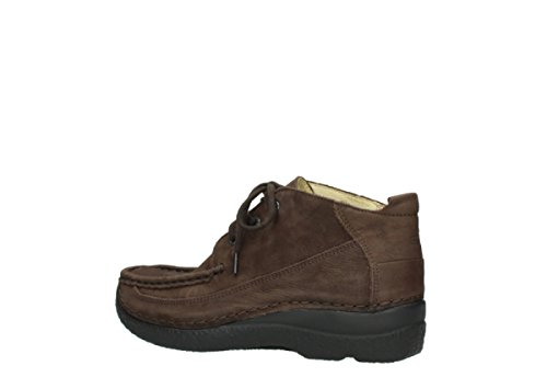 Brown nbsp;rollo 11300 Lace Wolky Moc 06200 comodidad Up Zapatos Nubuck wRRTq8F