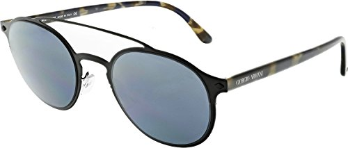 Giorgio Armani AR6041-300187-49 Black Oval - Armani Women Sunglasses