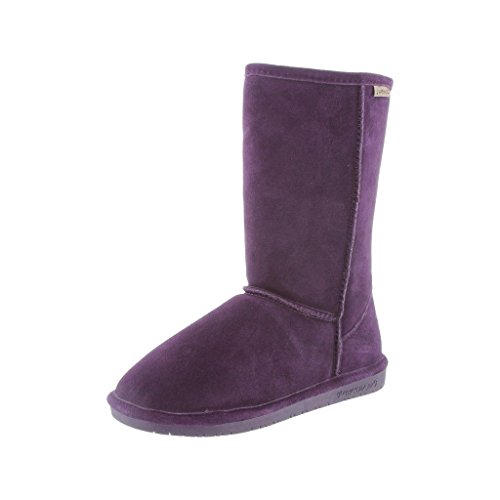 Bearpaw Womens Emma Deep Purple Mid-Calf Suede Boot - 7M