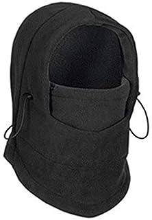 Pudincoco Winter Windproof Warm Hat Full Face Mask Doppio Strato Outdoor Riding cap (Nero)