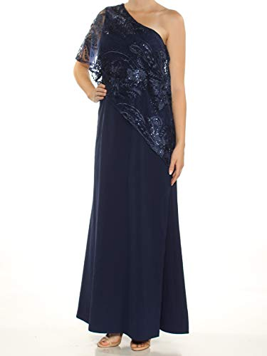 - Tahari by ASL Womens Floral Lace Sequined Sheath Dress Blue 8