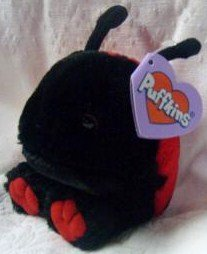 Dottie the Red and Black Ladybug Puffkin By Swibco Toy