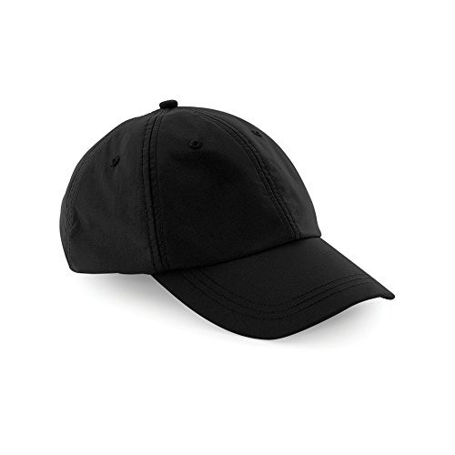 Beechfield Unisex Outdoor Waterproof 6 Panel Baseball Cap (One Size) (Black)