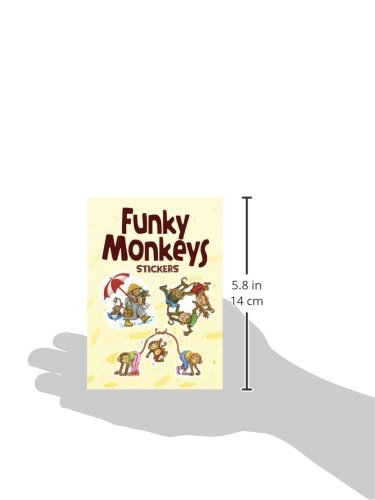 Funky Monkeys Stickers (Dover Little Activity Books Stickers)