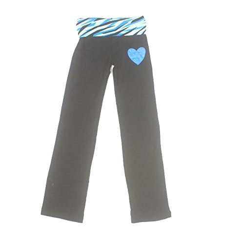 bally-total-fitness-girls-embellished-yoga-pants-x-small-4-5-black-tig