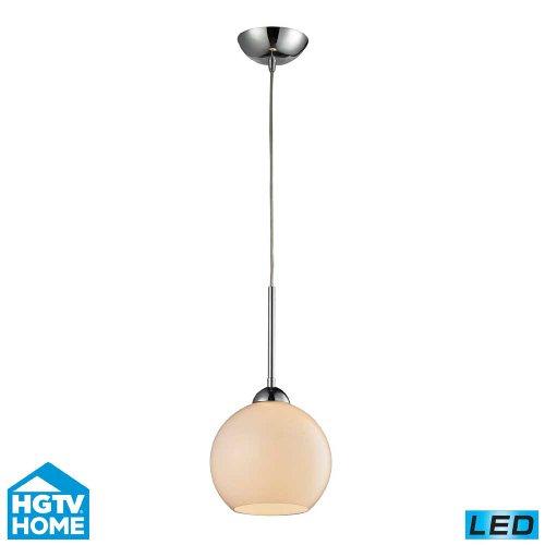 Hgtv Home Cassandra Blown Glass Mini Pendant Modern: HGTV Home 10240/1WH-LED Elk Lighting Cassandra 1-light LED